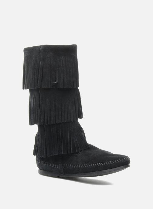 Stiefel Minnetonka 3 LAYER FRINGE BOOT schwarz detaillierte ansicht/modell