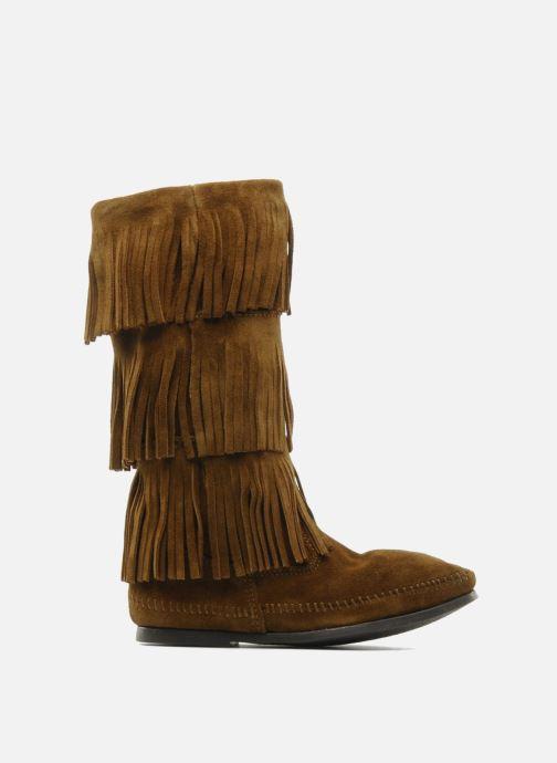 Stiefeletten & Boots Minnetonka 3 LAYER FRINGE BOOT braun ansicht von hinten
