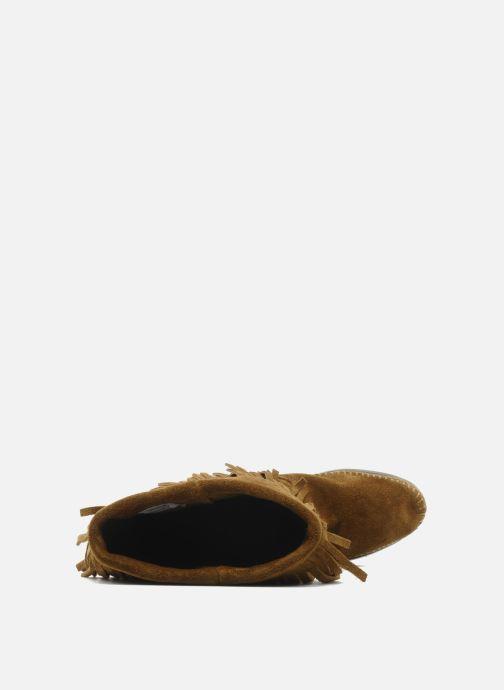 Stiefel Minnetonka 3 LAYER FRINGE BOOT braun ansicht von links
