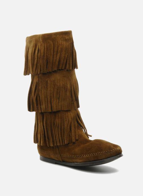 Stiefeletten & Boots Minnetonka 3 LAYER FRINGE BOOT braun detaillierte ansicht/modell
