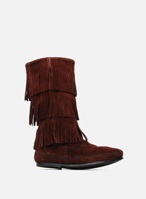 Bottines et boots Minnetonka 3 LAYER FRINGE BOOT Bordeaux vue derrière