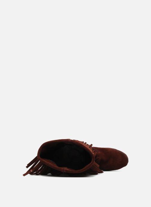 Bottines et boots Minnetonka 3 LAYER FRINGE BOOT Bordeaux vue gauche