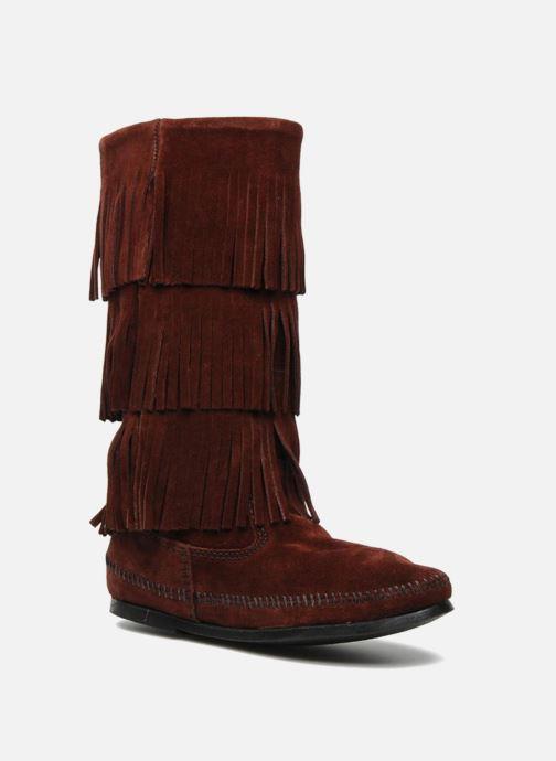 Bottines et boots Minnetonka 3 LAYER FRINGE BOOT Bordeaux vue détail/paire