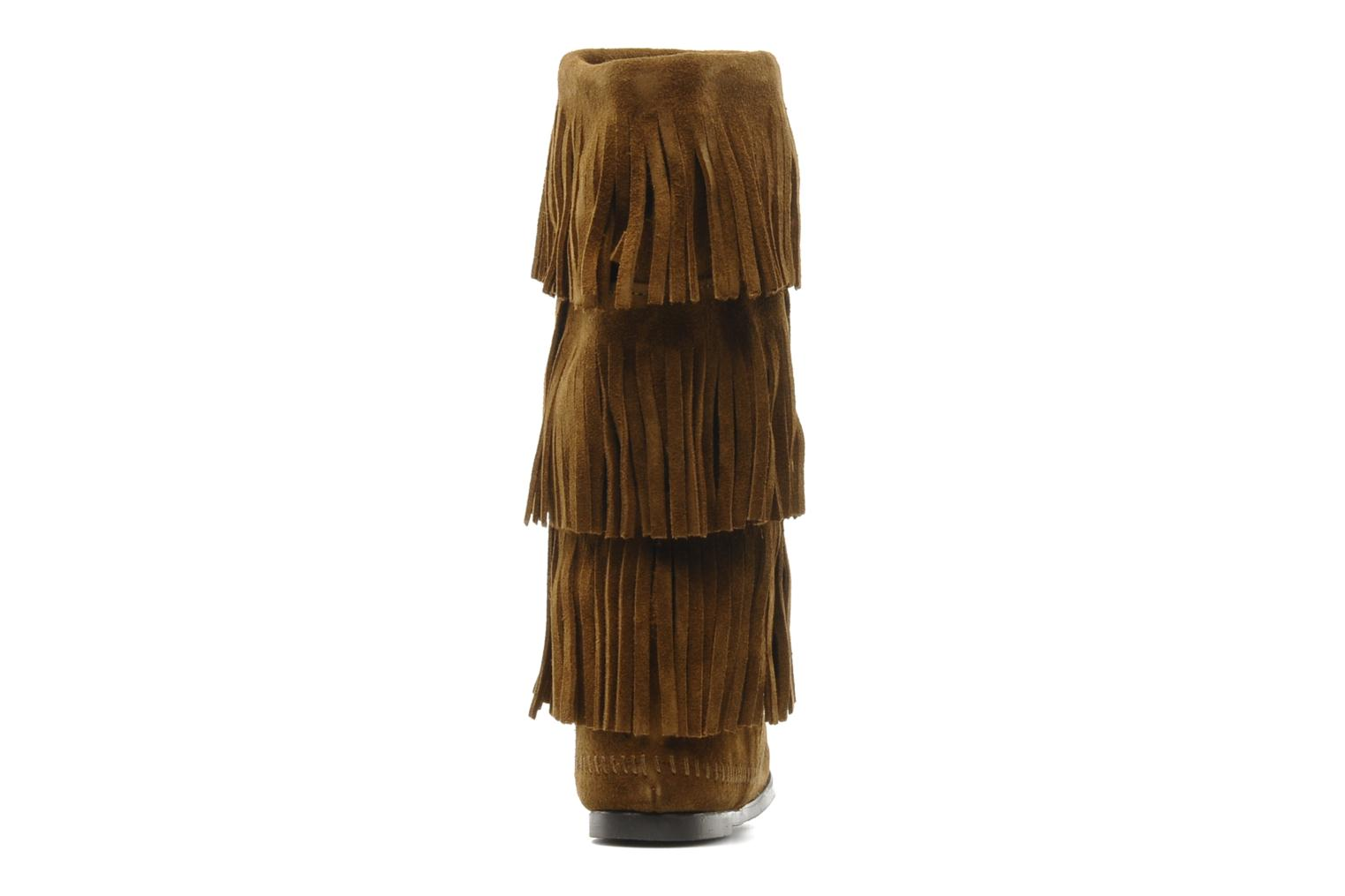 Ankle boots Minnetonka 3 LAYER FRINGE BOOT Brown view from the right