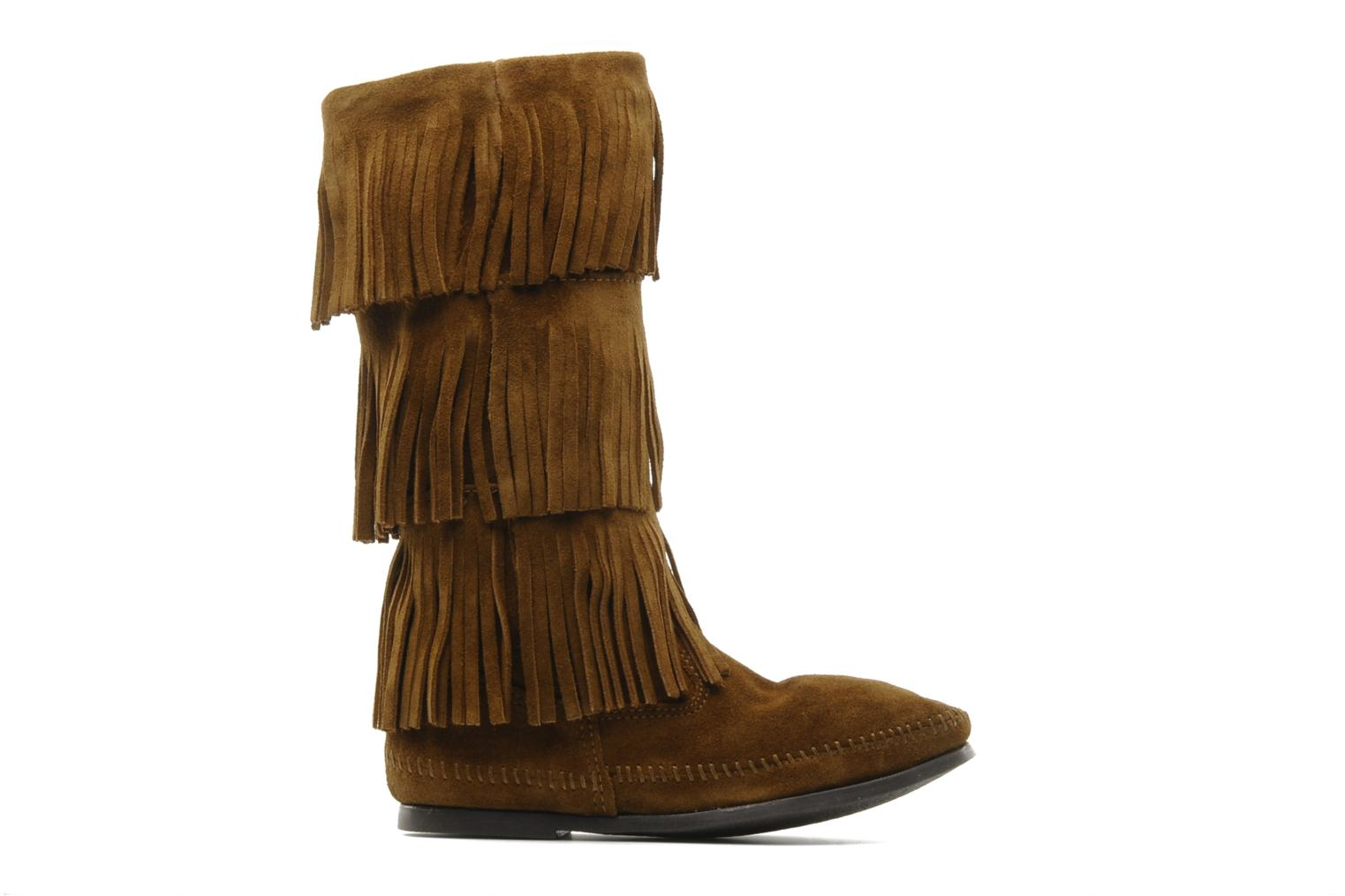 Ankle boots Minnetonka 3 LAYER FRINGE BOOT Brown back view