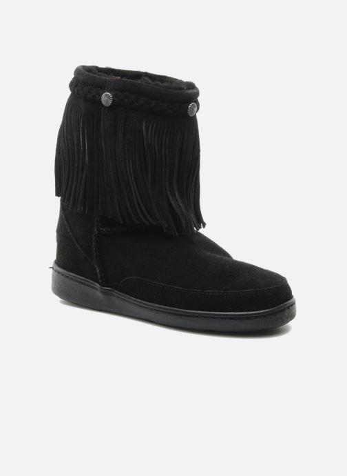 Stiefeletten & Boots Minnetonka FRINGE CLASSIC PUG BT schwarz detaillierte ansicht/modell