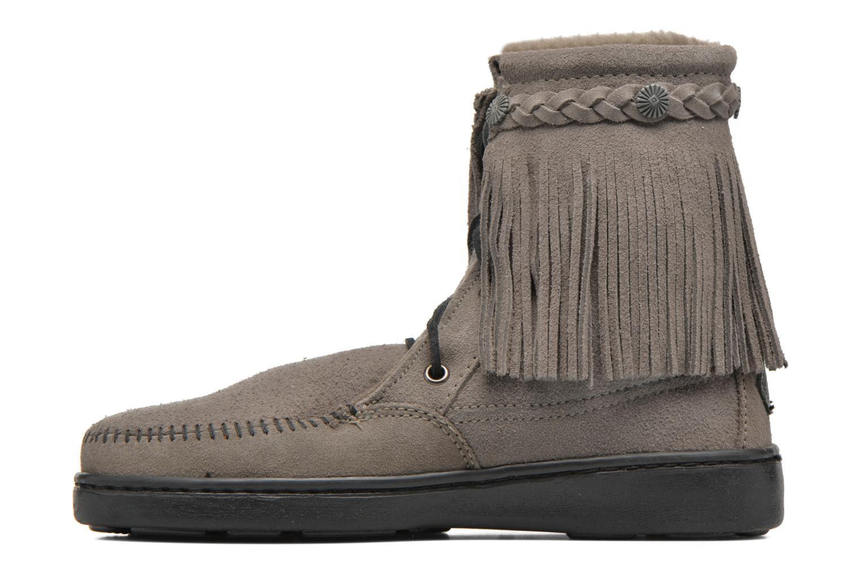 Bottines et boots Minnetonka SHEEPSKIN TRAMPER Gris vue face