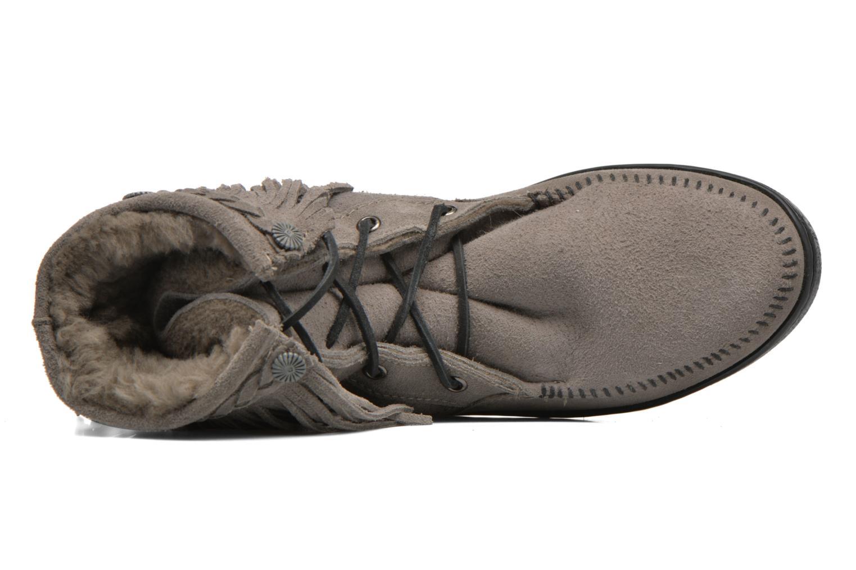 Bottines et boots Minnetonka SHEEPSKIN TRAMPER Gris vue gauche