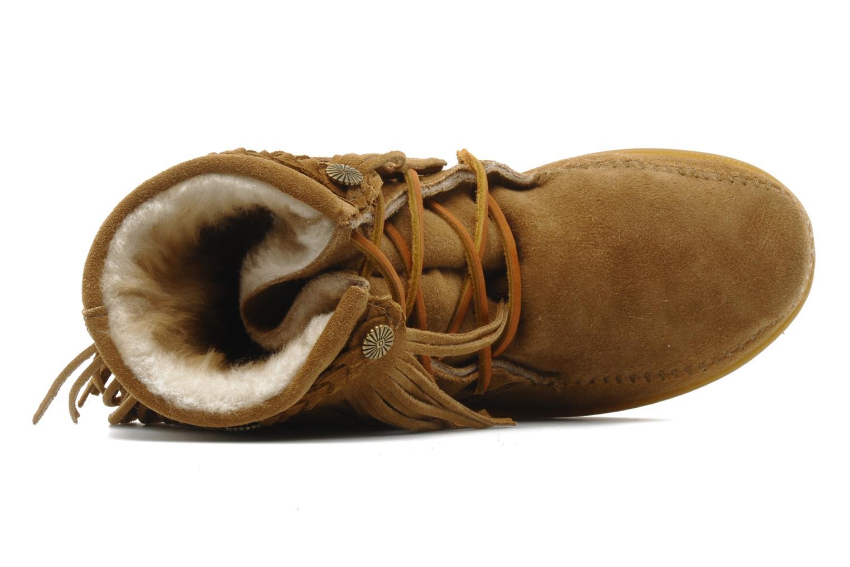 Bottines et boots Minnetonka SHEEPSKIN TRAMPER Marron vue gauche