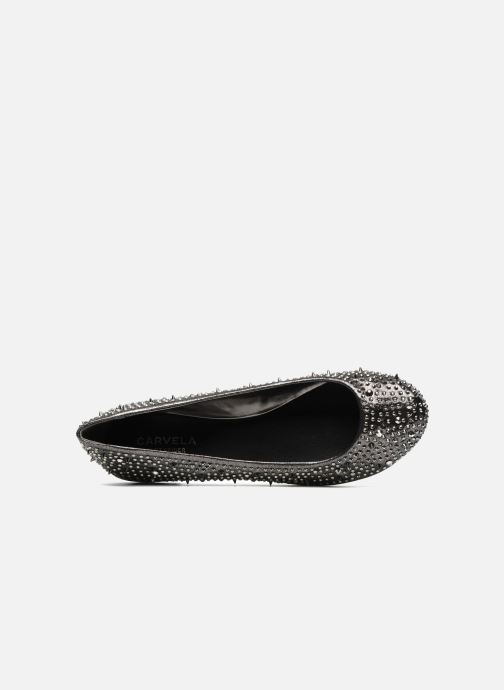 Ballet pumps Carvela LIEUTENANT Silver view from the left