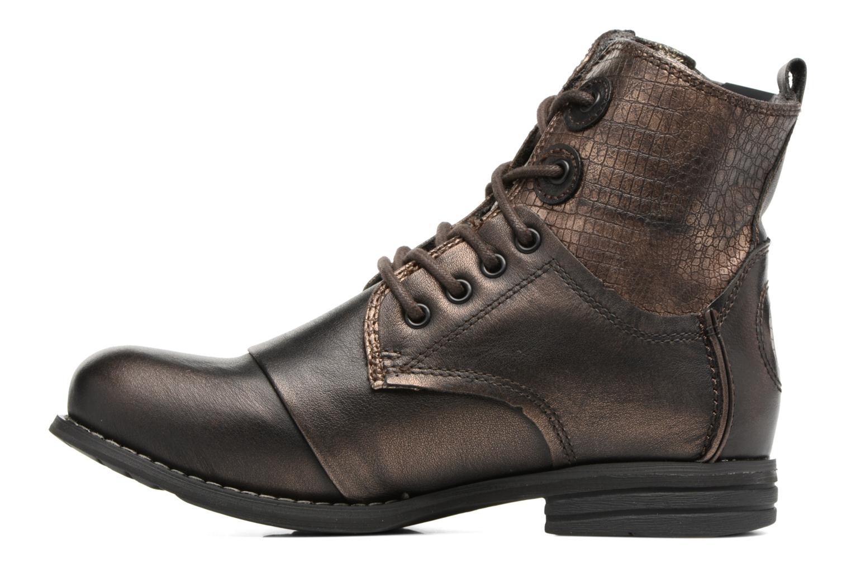 Bottines et boots Bunker Sara zip Or et bronze vue face