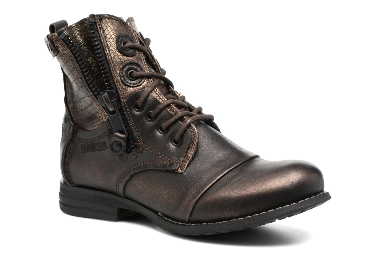 Bottines et boots Bunker Sara zip Or et bronze vue détail/paire