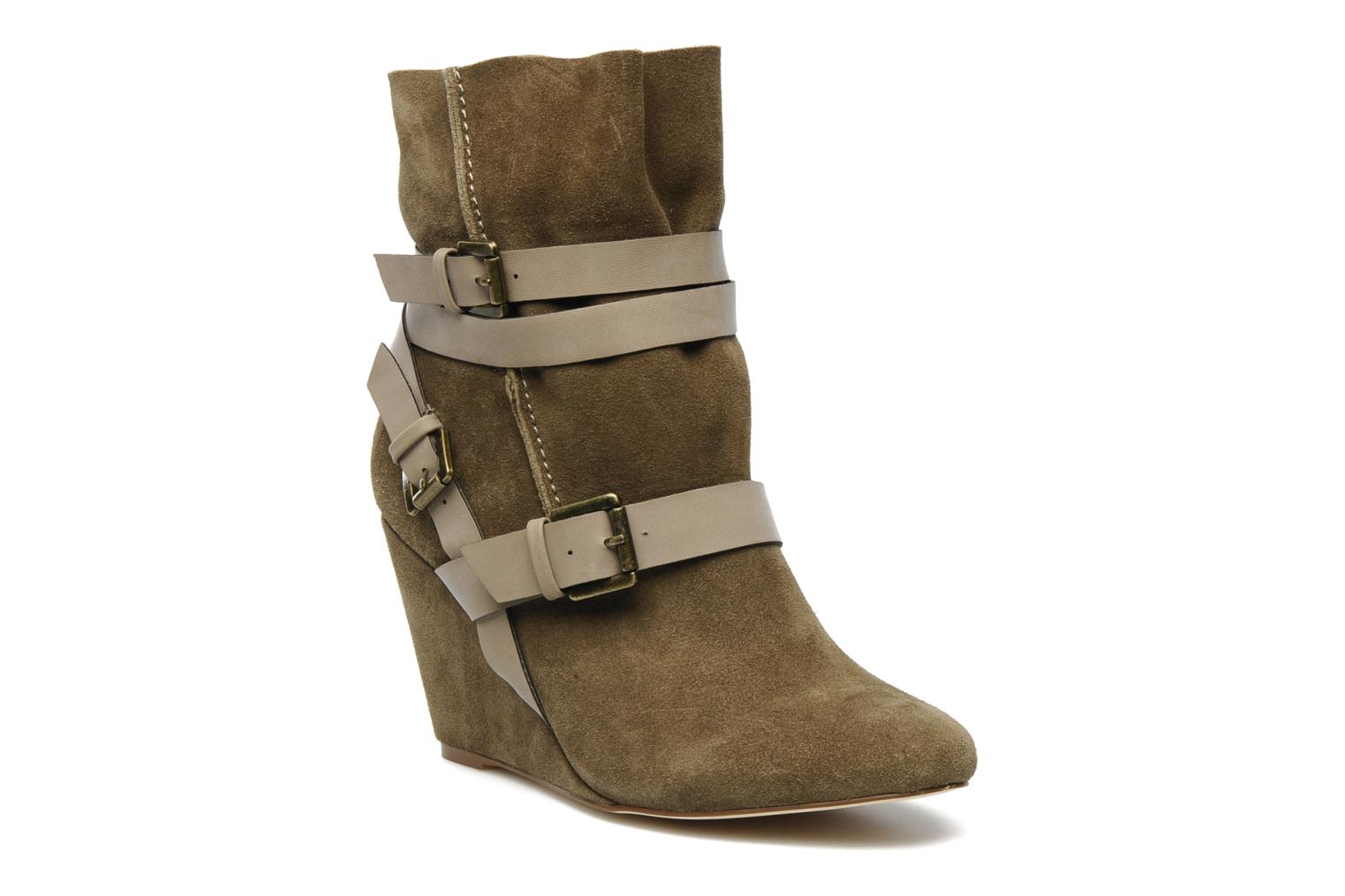 Ankle boots Chocolate Schubar Gis Green detailed view/ Pair view
