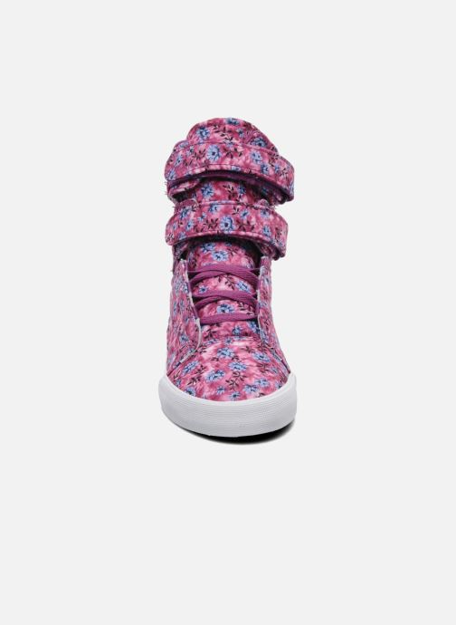 Baskets Supra Society w Rose vue portées chaussures