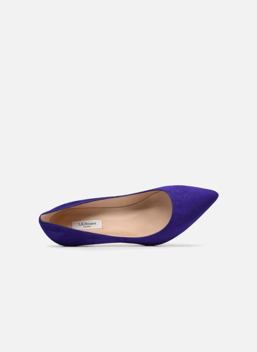 High heels L.K. Bennett Floret Blue view from the left