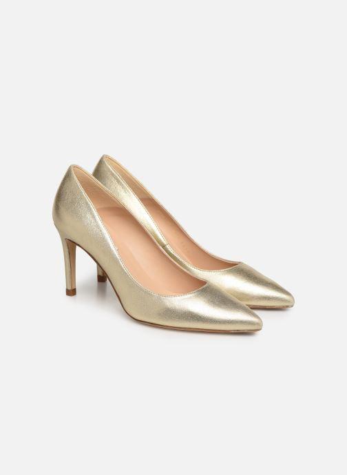 High heels L.K. Bennett Floret Bronze and Gold 3/4 view