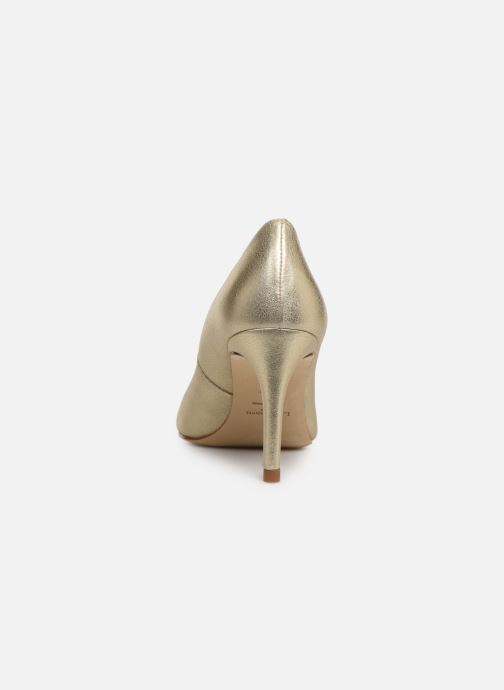 High heels L.K. Bennett Floret Bronze and Gold view from the right