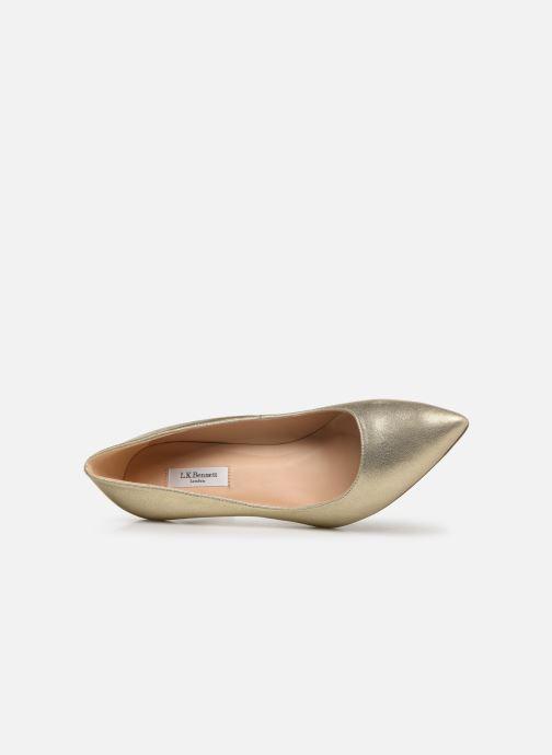 Zapatos de tacón L.K. Bennett Floret Oro y bronce vista lateral izquierda