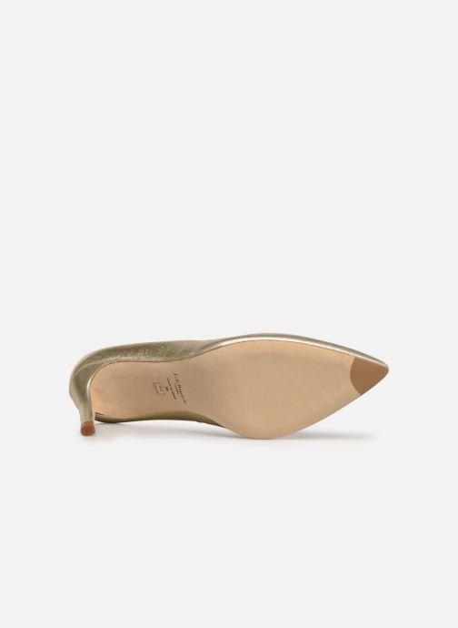 Zapatos de tacón L.K. Bennett Floret Oro y bronce vista de arriba