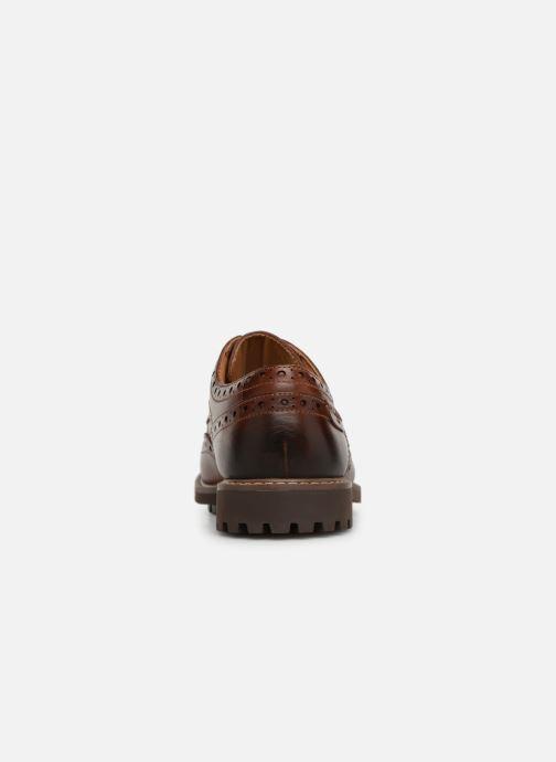 Zapatos con cordones Clarks Montacute Wing Marrón vista lateral derecha