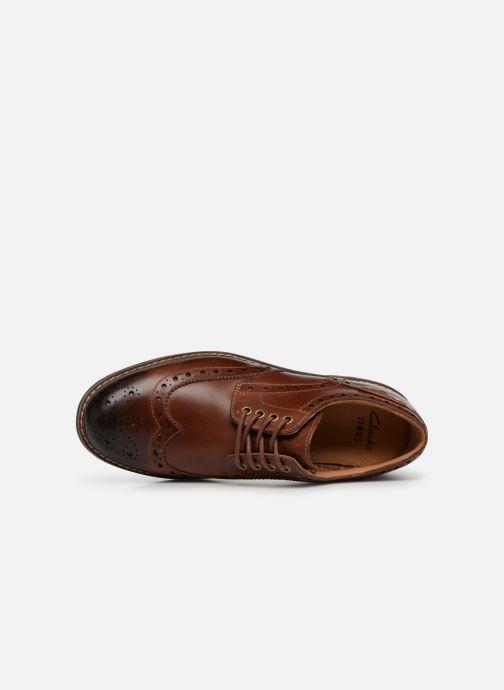 Zapatos con cordones Clarks Montacute Wing Marrón vista lateral izquierda