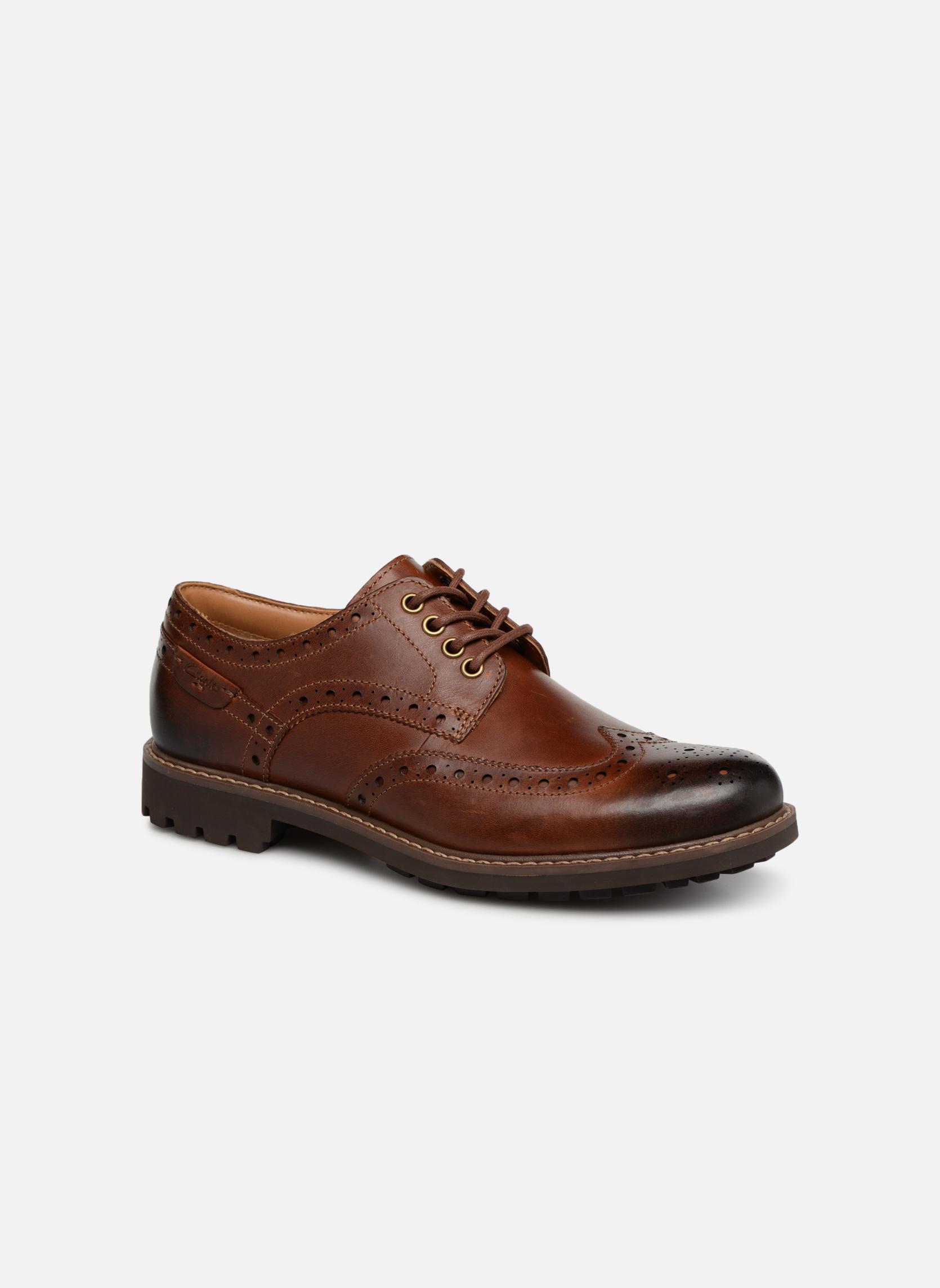 Chaussures à lacets Clarks Montacute Wing Marron vue détail/paire