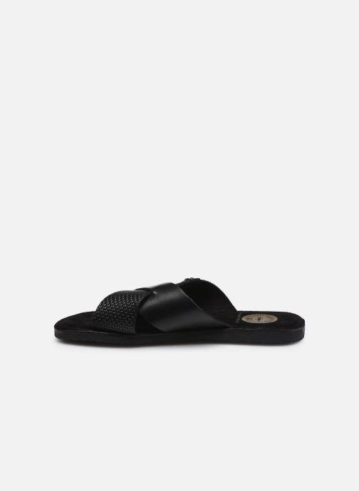 Sandales et nu-pieds Base London LEO Noir vue face