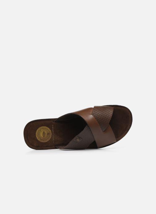 Sandales et nu-pieds Base London LEO Marron vue gauche