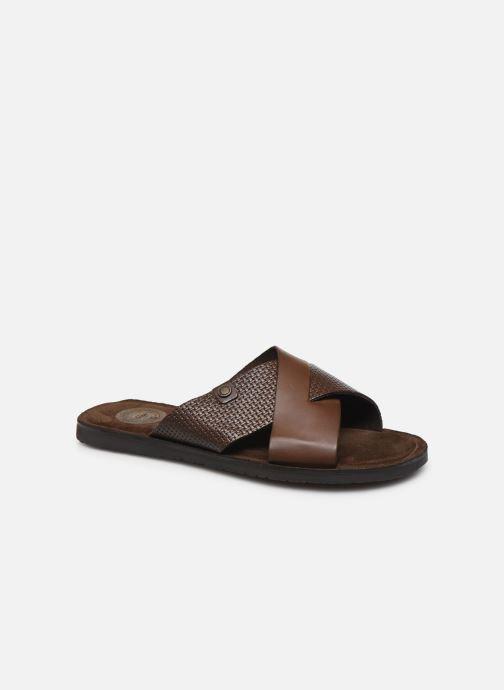 Sandales et nu-pieds Base London LEO Marron vue détail/paire