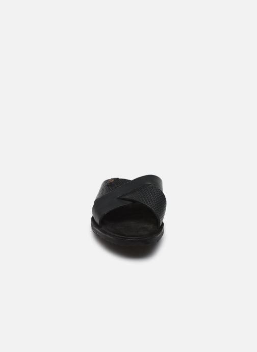 Sandales et nu-pieds Base London LEO Bleu vue portées chaussures