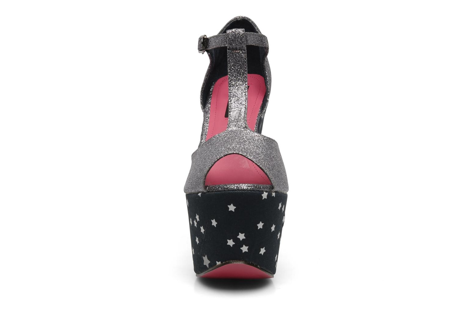 Sandals Iron Fist STARRY NIGHT SUPER PLTFRM Silver model view