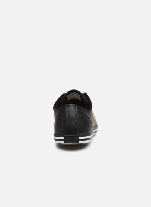 Baskets Fred Perry Kingston Leather Noir vue droite