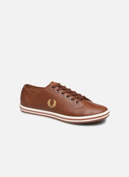 Sneakers Fred Perry Kingston Leather Bruin detail