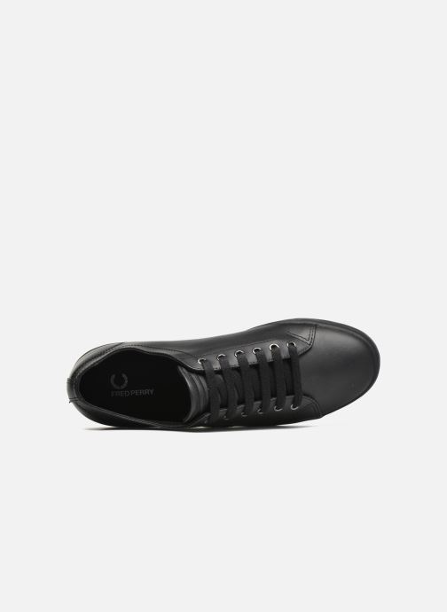 Baskets Fred Perry Kingston Leather Noir vue gauche