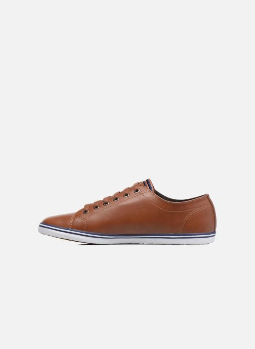 Baskets Fred Perry Kingston Leather Marron vue face