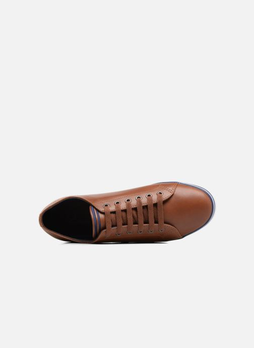 Baskets Fred Perry Kingston Leather Marron vue gauche
