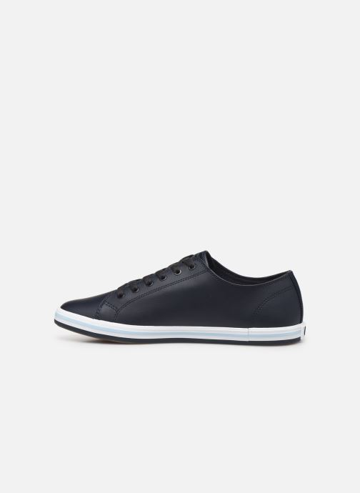 Baskets Fred Perry Kingston Leather Bleu vue face
