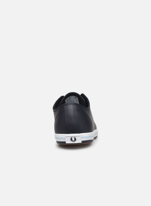 Baskets Fred Perry Kingston Leather Bleu vue droite