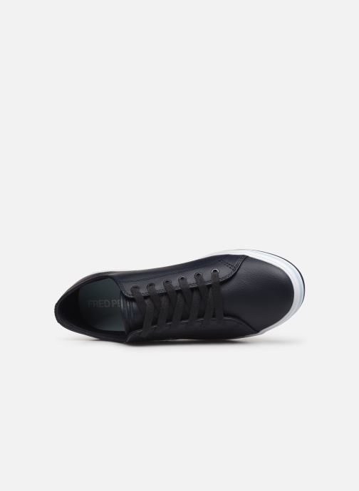 Baskets Fred Perry Kingston Leather Bleu vue gauche