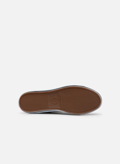 Baskets Fred Perry Kingston Leather Bleu vue haut