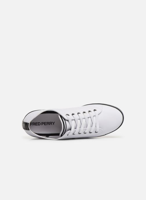 Baskets Fred Perry Kingston Leather Blanc vue gauche