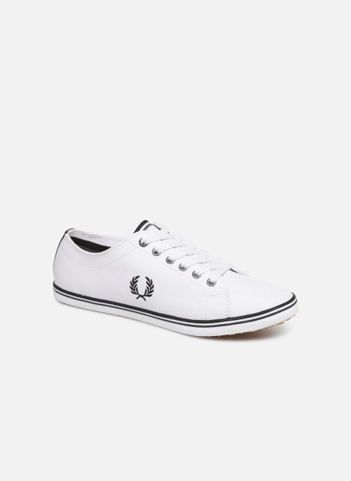 Baskets Fred Perry Kingston Leather Blanc vue détail/paire