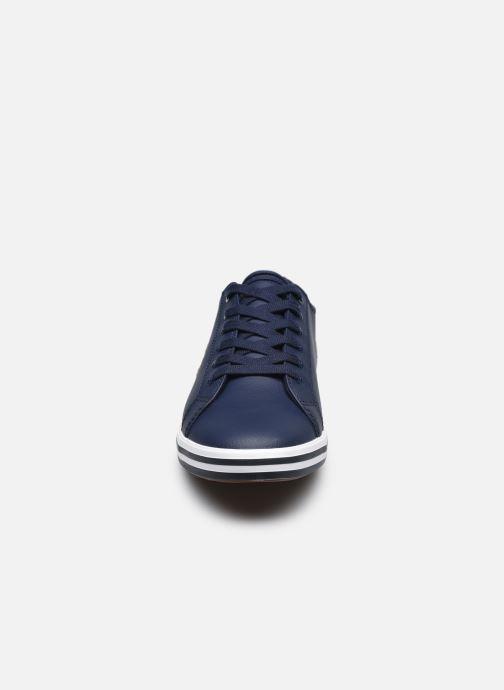 Sneaker Fred Perry Kingston Leather blau schuhe getragen
