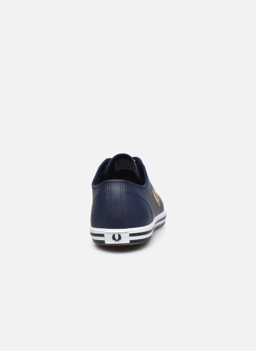 Sneaker Fred Perry Kingston Leather blau ansicht von rechts
