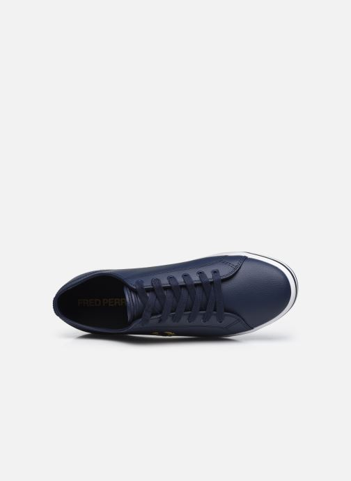 Sneaker Fred Perry Kingston Leather blau ansicht von links