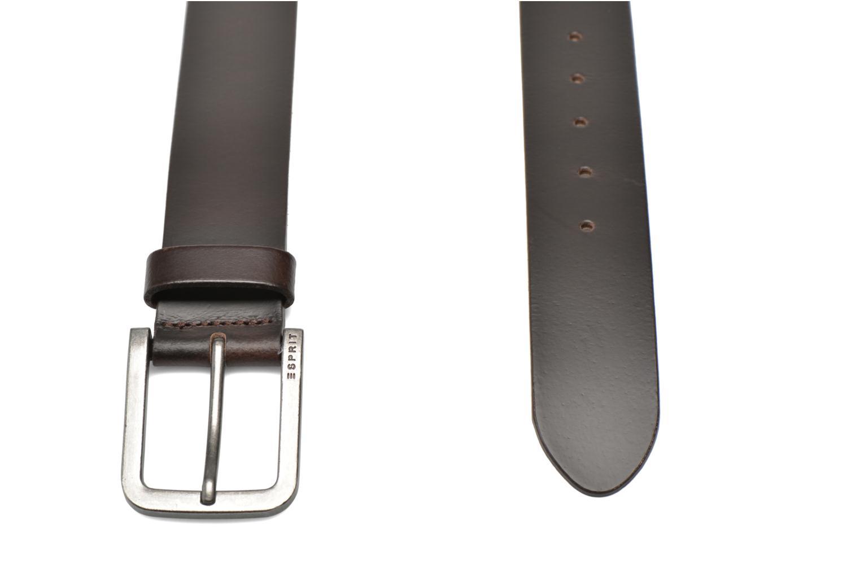 Ceintures Esprit Zilan Leather Belt 40mm Marron vue portées chaussures