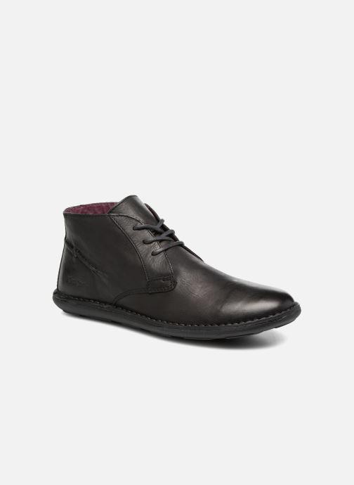 Zapatos con cordones Kickers SWIBO Negro vista de detalle / par