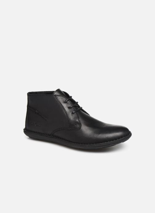Snøresko Kickers SWIBO Sort detaljeret billede af skoene