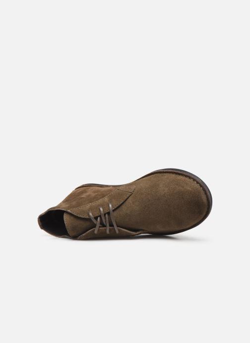 Zapatos con cordones Kickers SWIBO Verde vista lateral izquierda