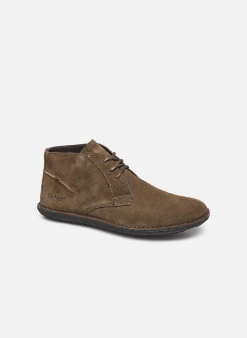 Zapatos con cordones Kickers SWIBO Verde vista de detalle / par